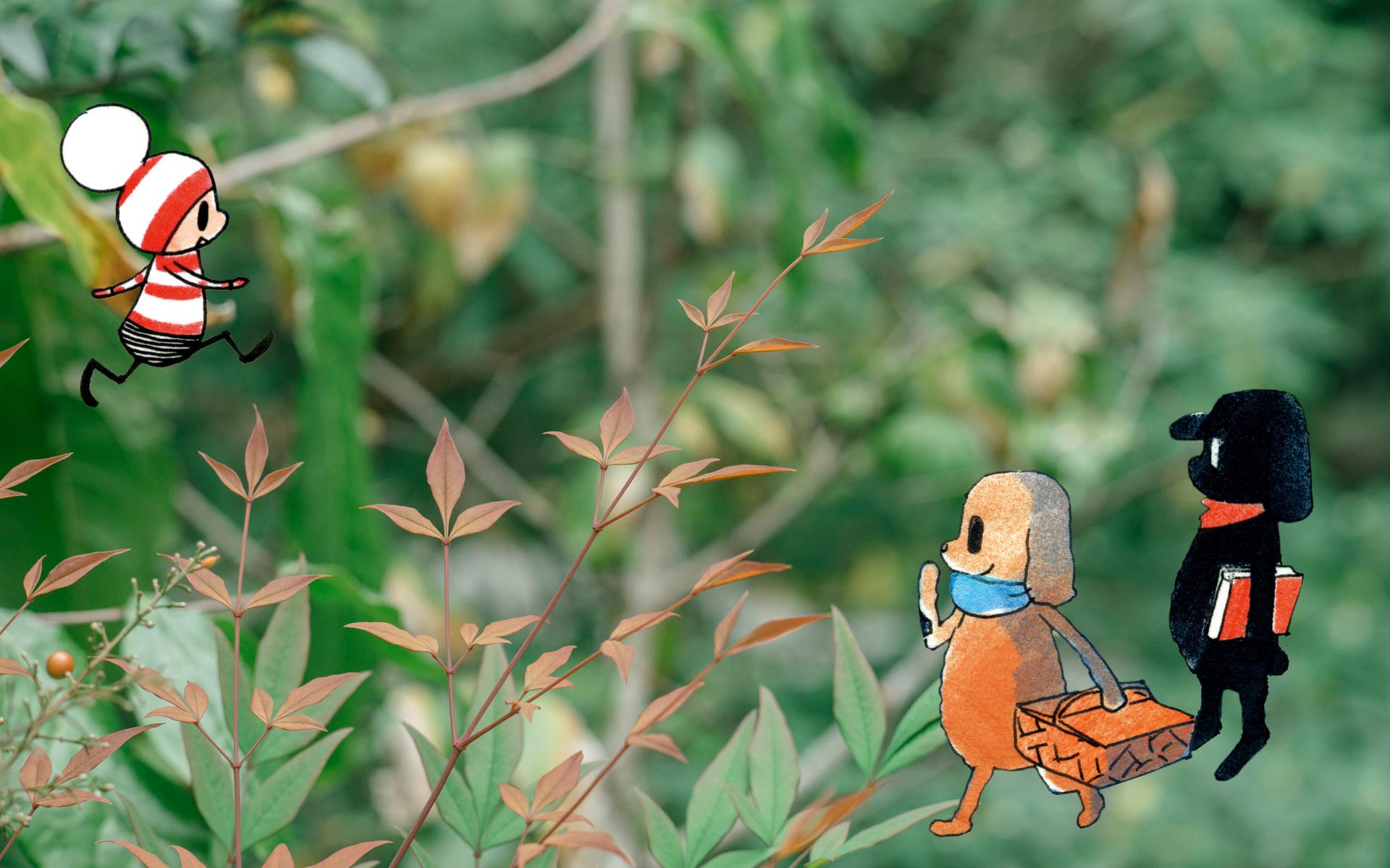 オチビサンと巡る四季の鎌倉 〜木々が色づく文学の秋編〜
