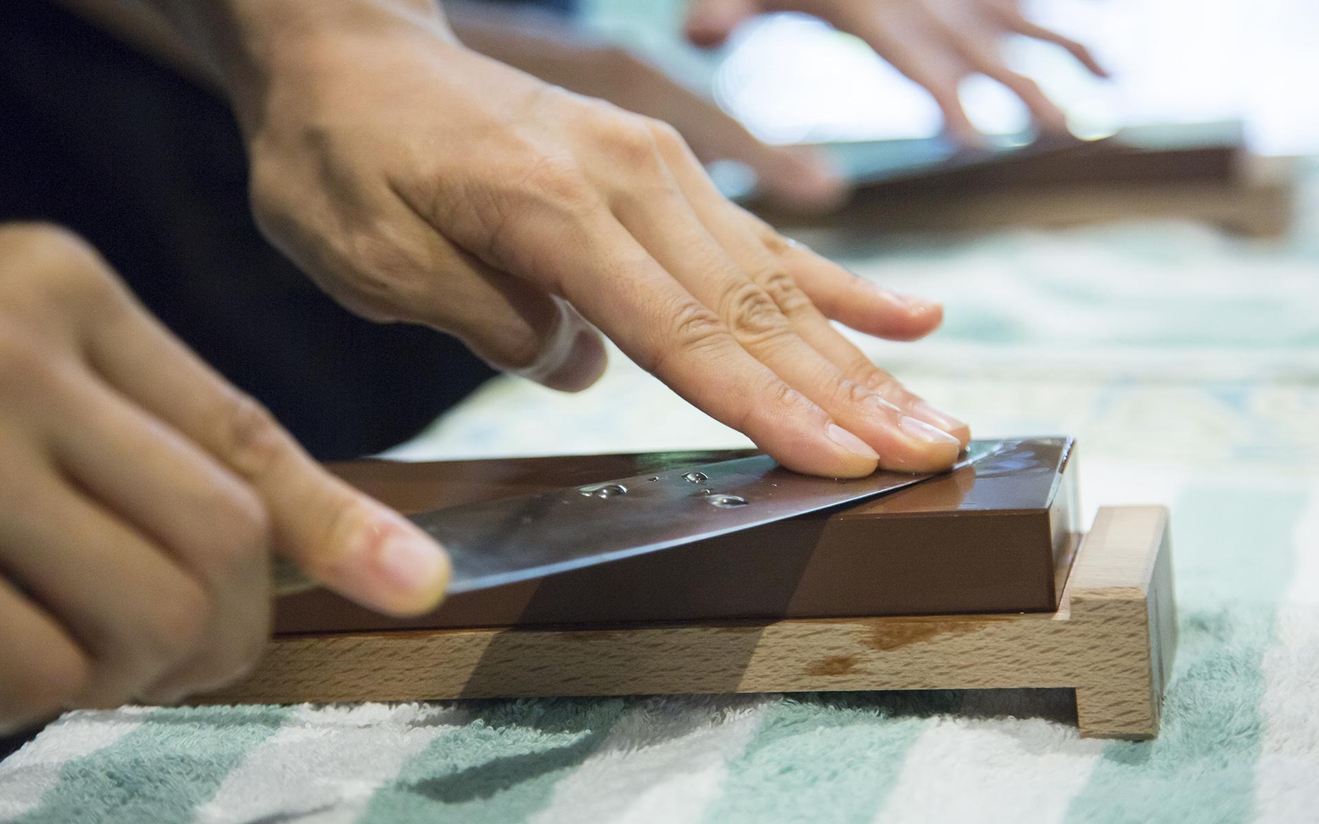 包丁の研ぎ方ワークショップ