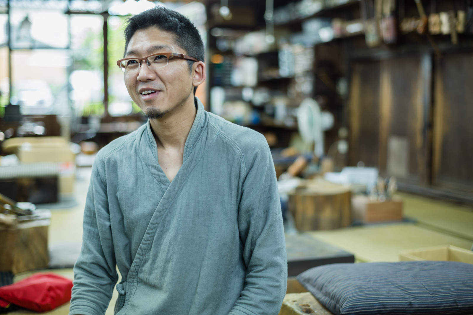 玉川堂番頭で2016年の「工場の祭典」実行委員長を務められた山田立さん。