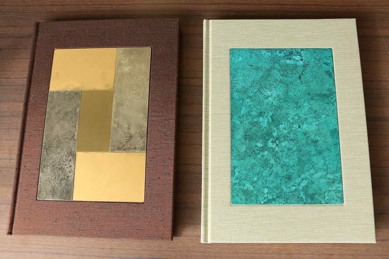 高岡銅器の銅板を表紙にした新作