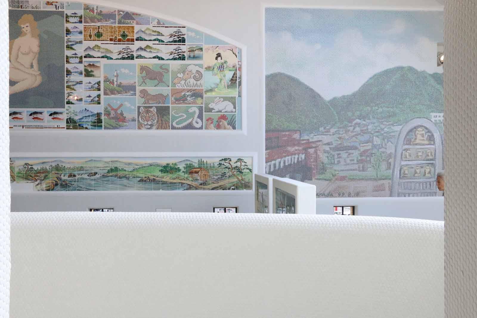 多治見市にある「モザイクミュージアム」のモザイクタイルアート