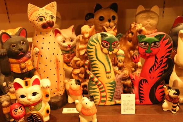 珍しい海外の招き猫。