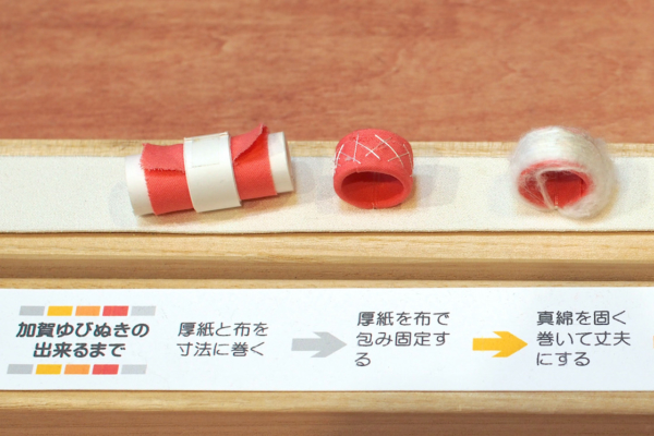 For the production of making a Kaga thimble, she says the process of making the base is very important.