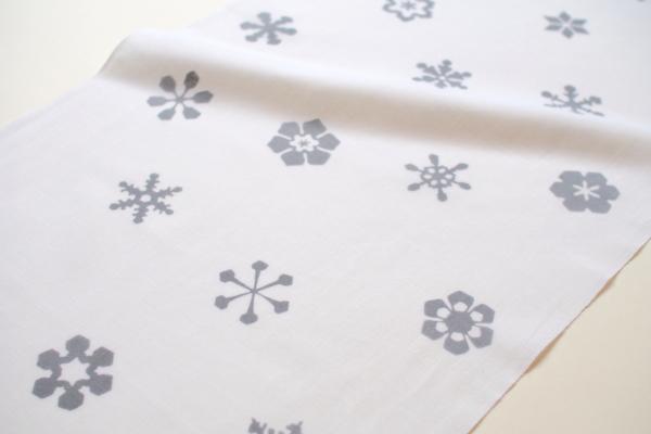 一つとして同じ形はないといわれる雪の結晶「六花(りっか)」。白銀の世界を思わせます。