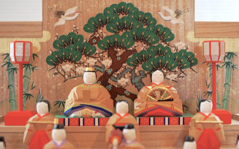 奈良一刀彫の「段飾雛」