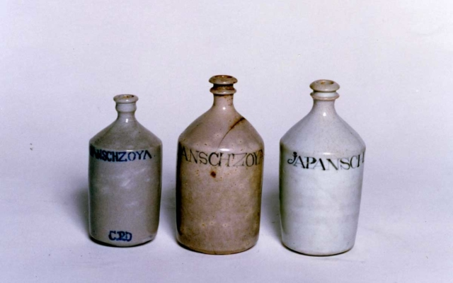 Konpura ceramic bottles (collections from Kikkoman Institute for International Food Culture)