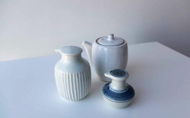 Various ceramic soy sauce cruets