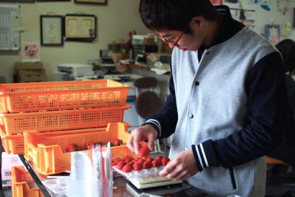 長男の翔太郎くん。この春から農業を学ぶ学校に通うのだそう。