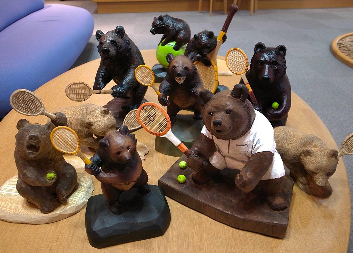 一般社団法人兵庫県テニス協会とのコラボレーションで製作されたテニス熊たち