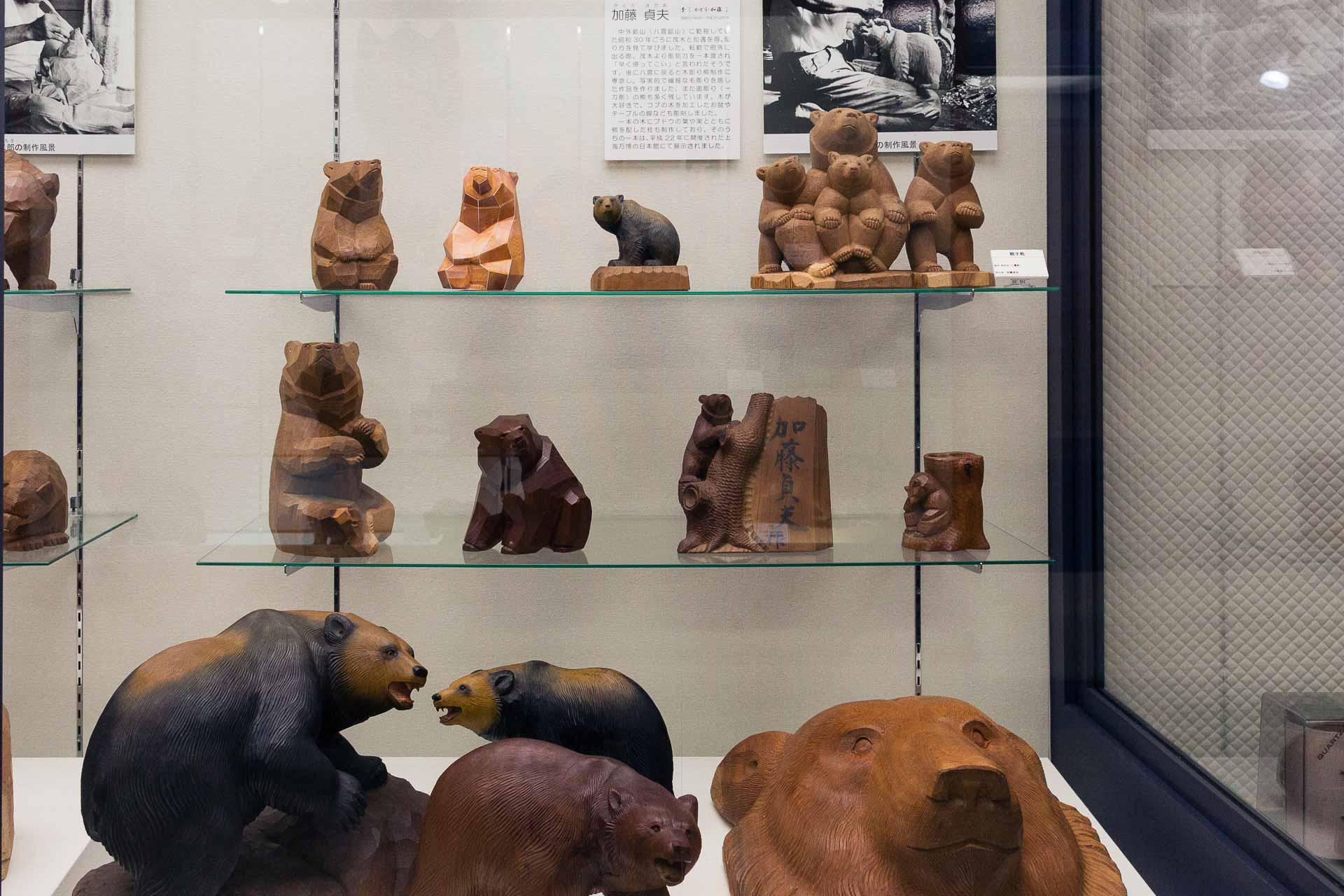 加藤貞夫の木彫り熊たち