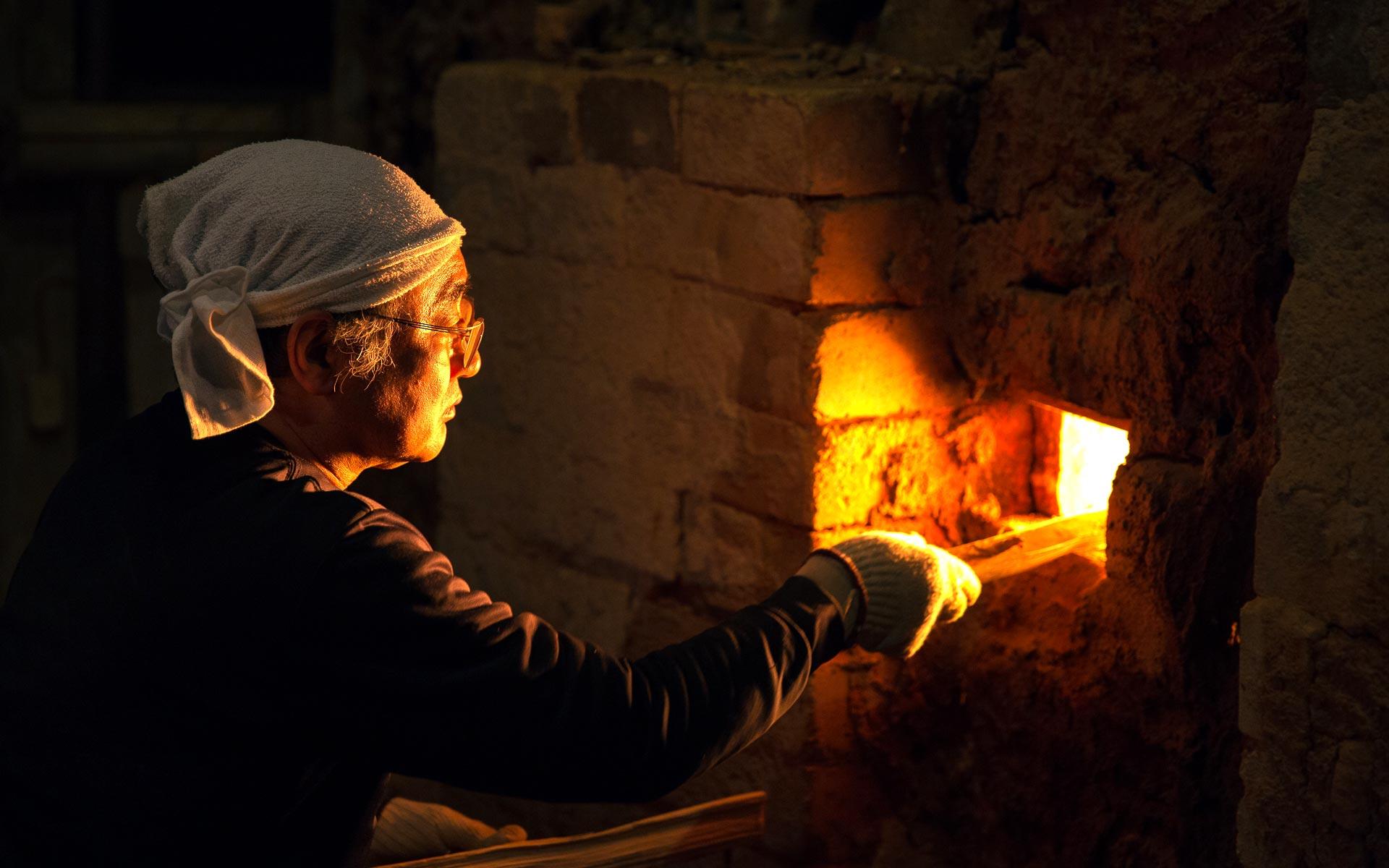 90年の歴史を持つ登り窯、鎌倉其中窯