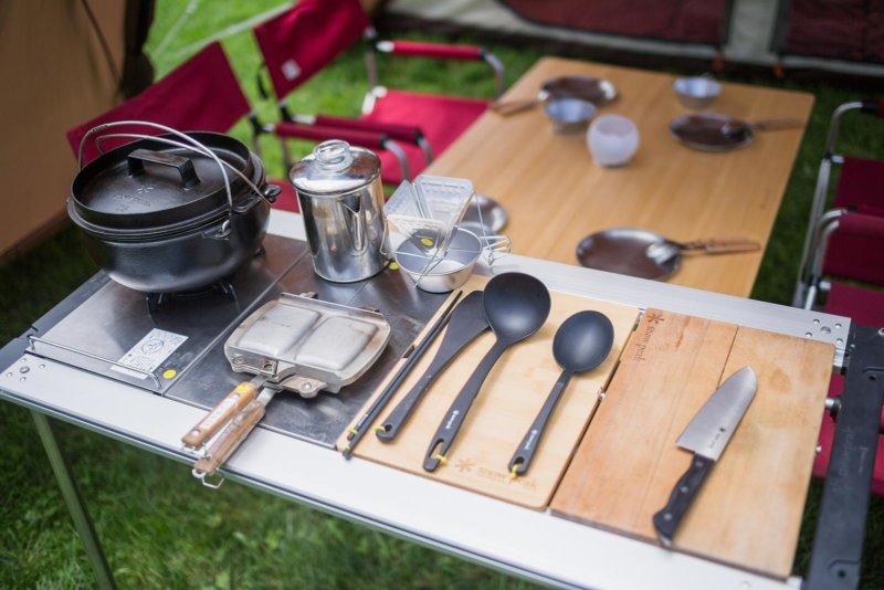 ミニマム仕様の調理道具は普段使いにも便利そうです