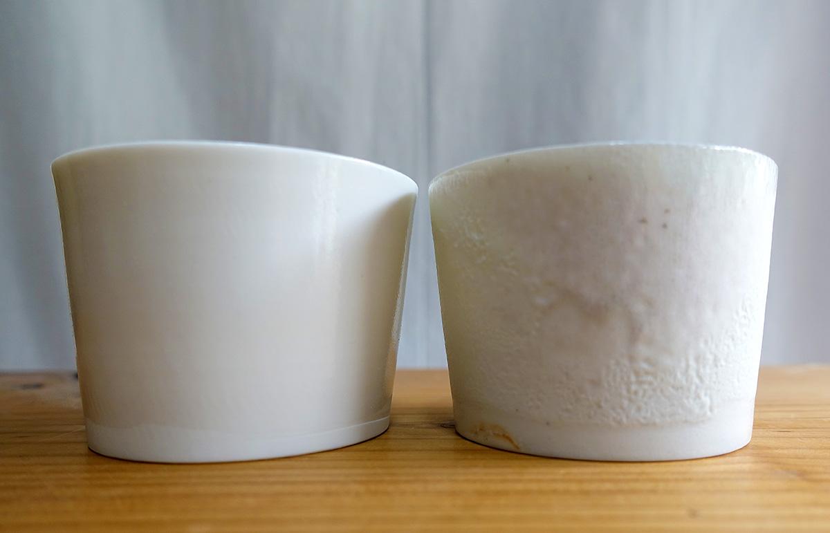 同じ土、釉薬( ゆうやく )を使っても、焼き方によって表情が異なるのだそう