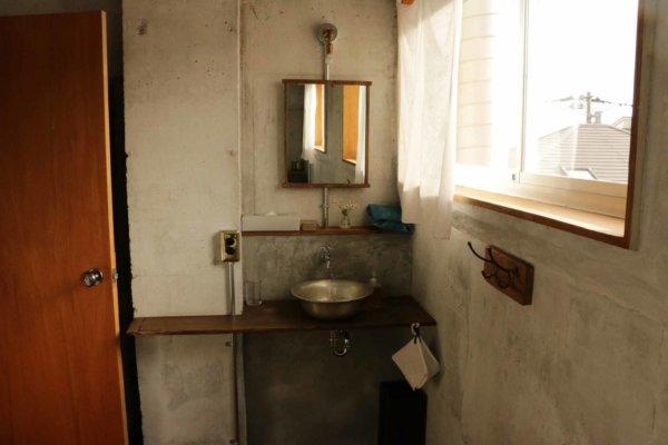 hotel aiaoi客室の洗面台。ここも部屋ごとにデザインが異なる