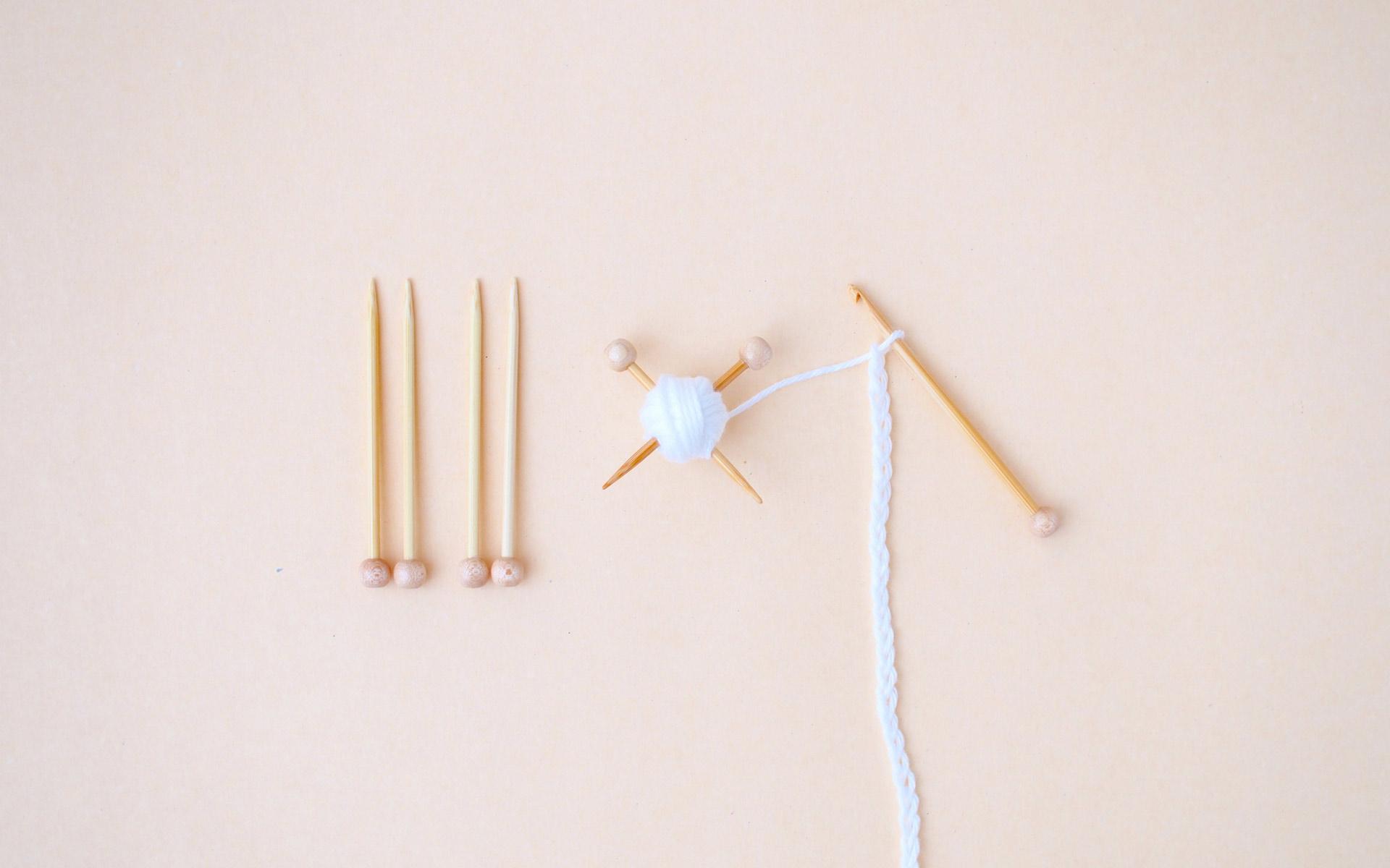 世界中に多くの愛好家をもつ、竹の編み針