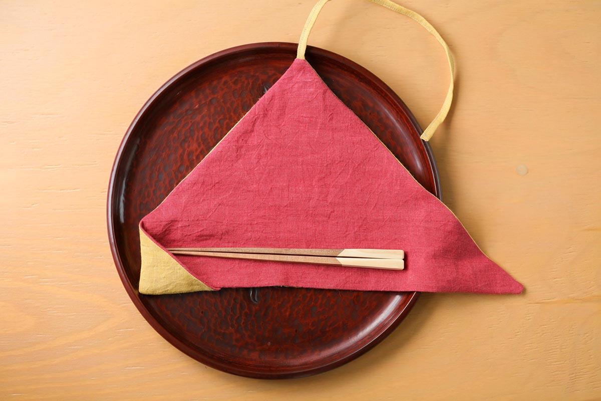 椿を使ったお箸とケース