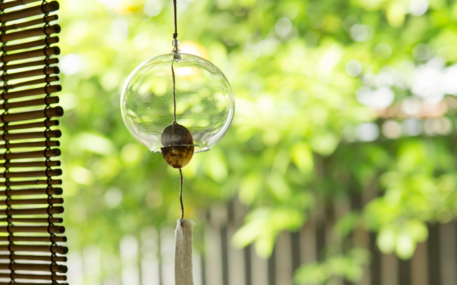 300年続く、風鈴の透明