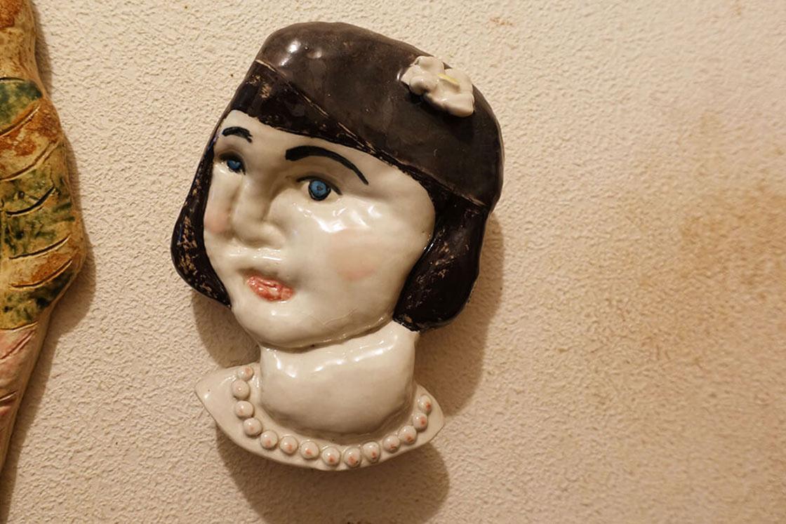 土人形以外にも、人物を中心とした作品作りもされています