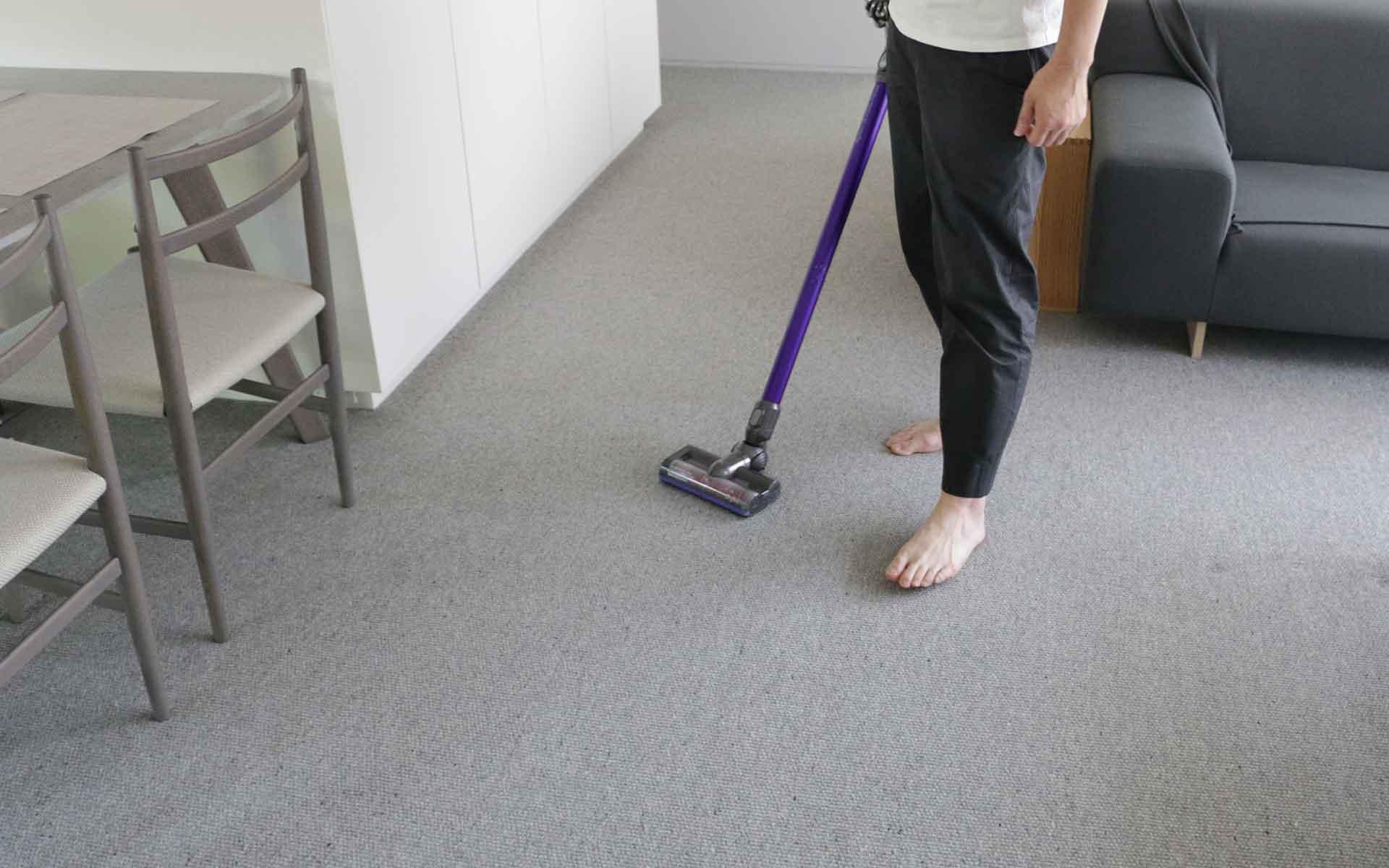 お掃除の様子を見せてくださいました