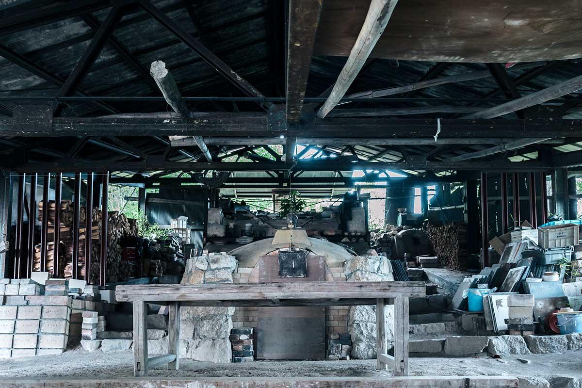 長谷園の薪窯