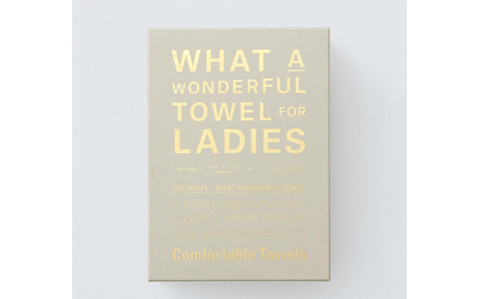 女性用タオルの箱