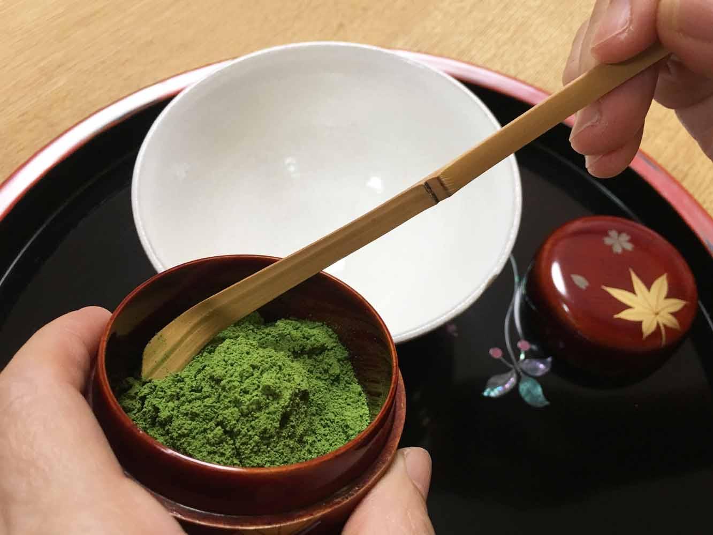 お茶をすくうための道具「茶杓」