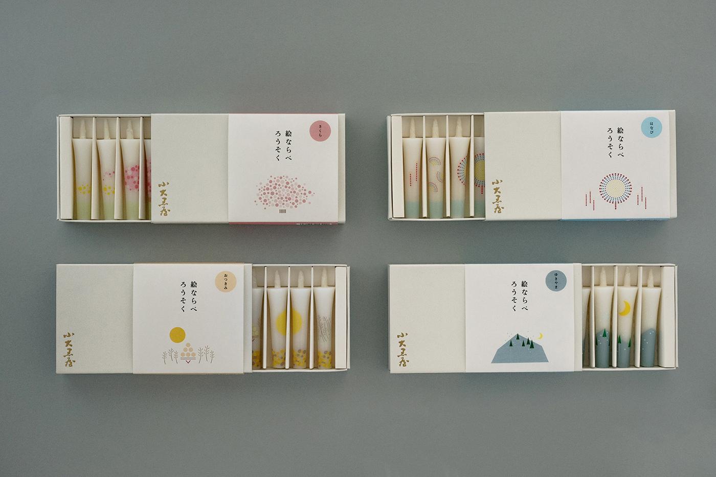 鯖江市tsugiのデザイン。絵ならべろうそく