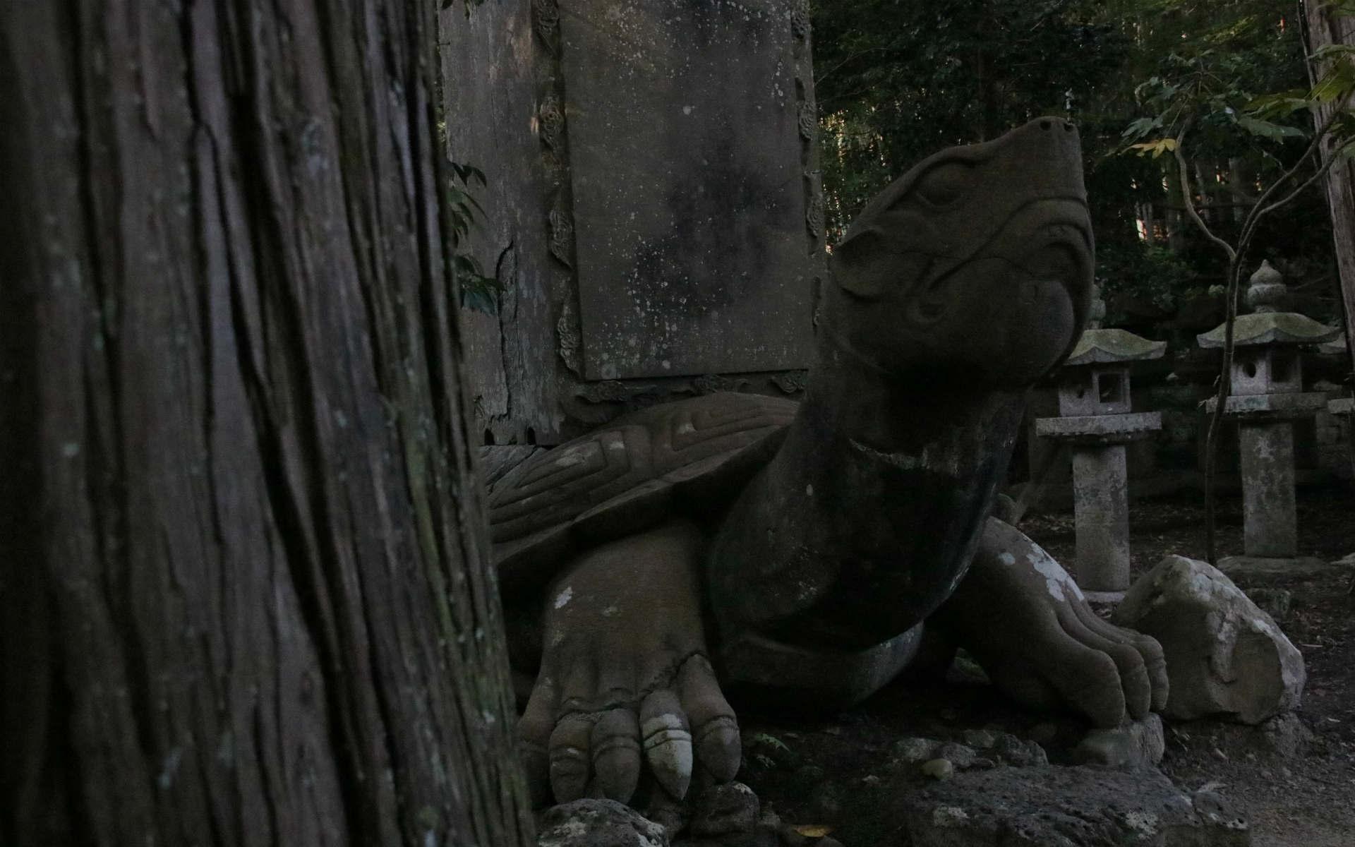 月照寺の大亀。夜中に動き出して悪さをしたという