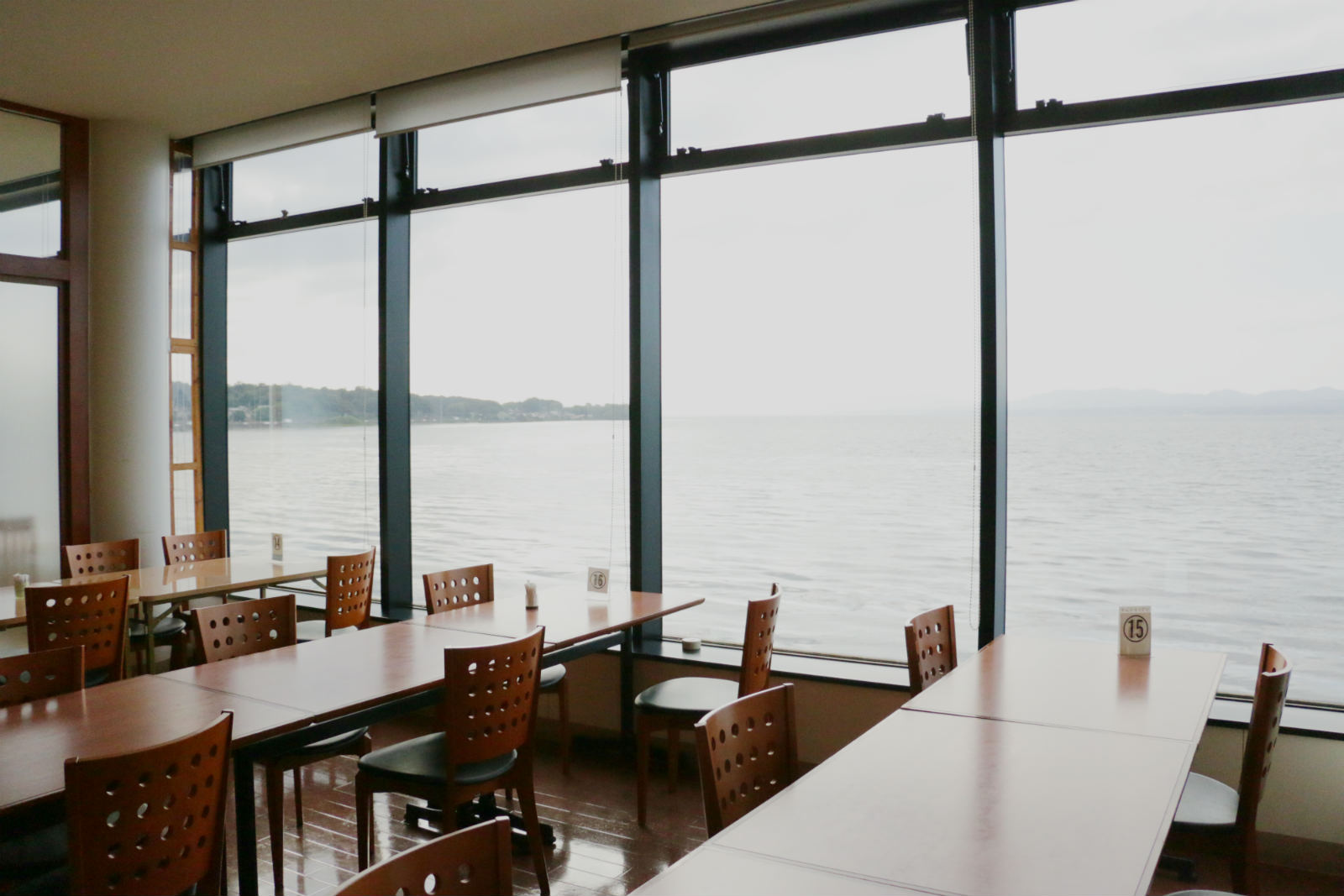 宍道湖が目の前のレストラン