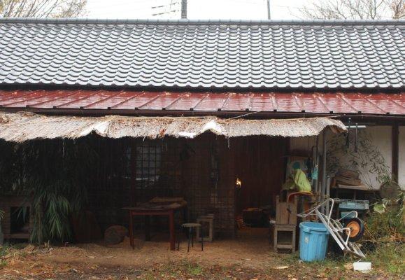 木地づくりの作業場