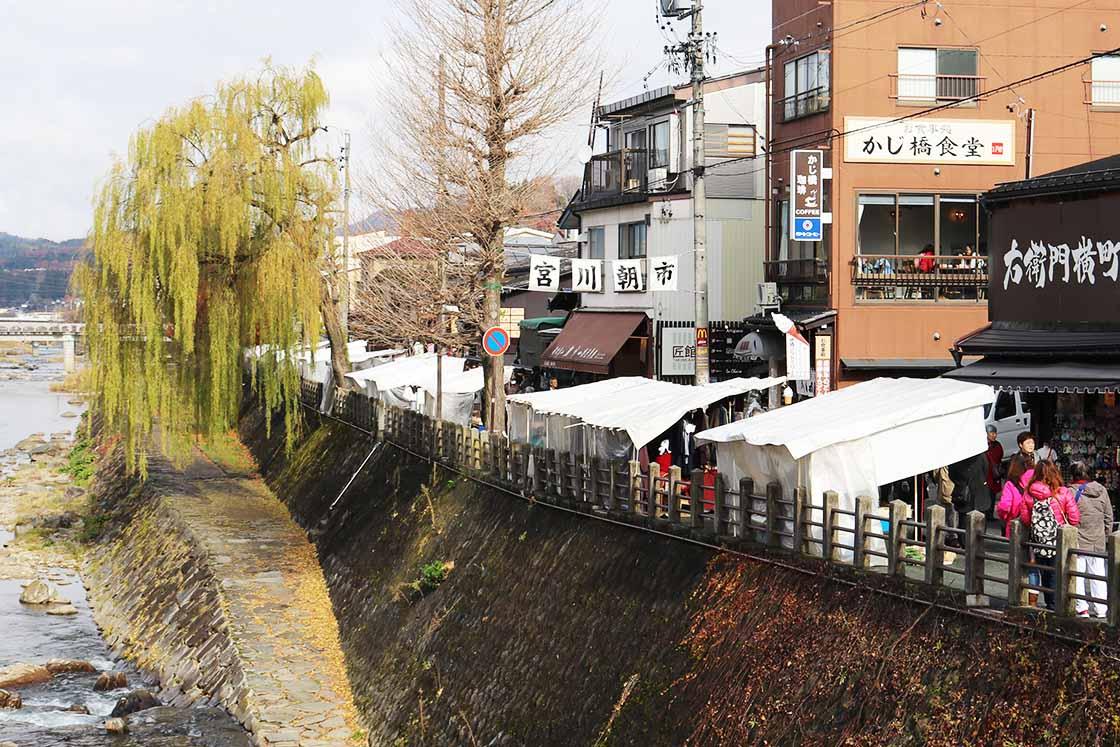 飛騨高山の朝市