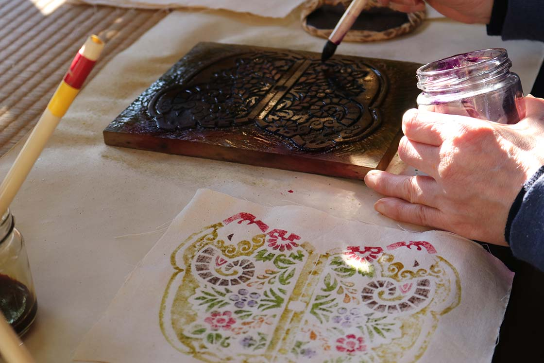 真工藝の木版手染ぬいぐるみ工程