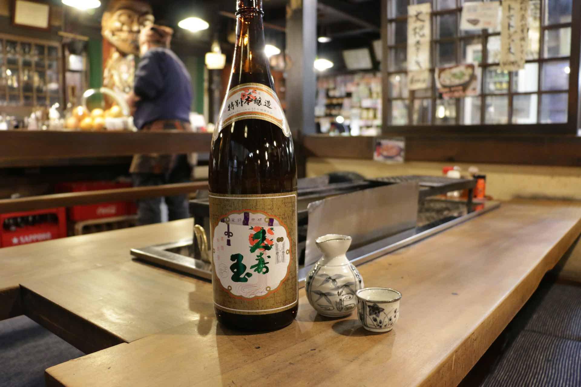 おすすめをお願いした地酒は、地元でも有名だという平瀬酒造の「久寿玉 (くすだま) 」