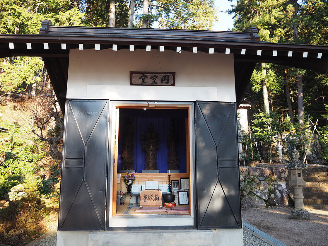円空堂。普段は施錠されている。円空の仏像_さんち〜工芸と探訪〜