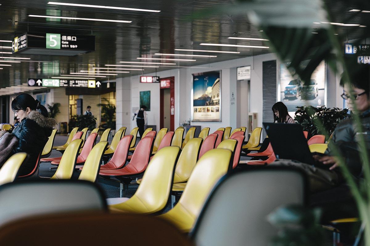 鹿児島空港のイームズチェア