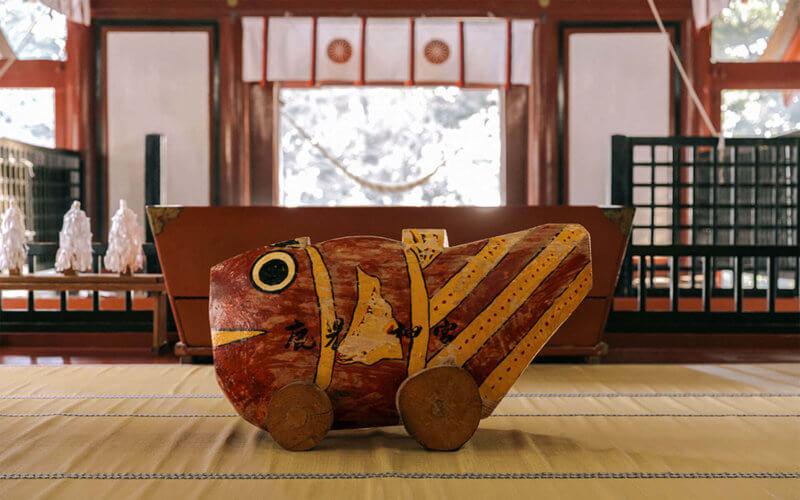 鹿児島の鹿児島神宮の鯛車