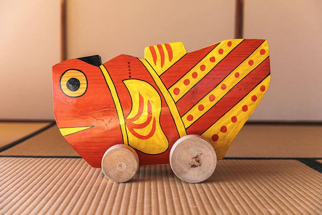 鹿児島神宮の鯛車