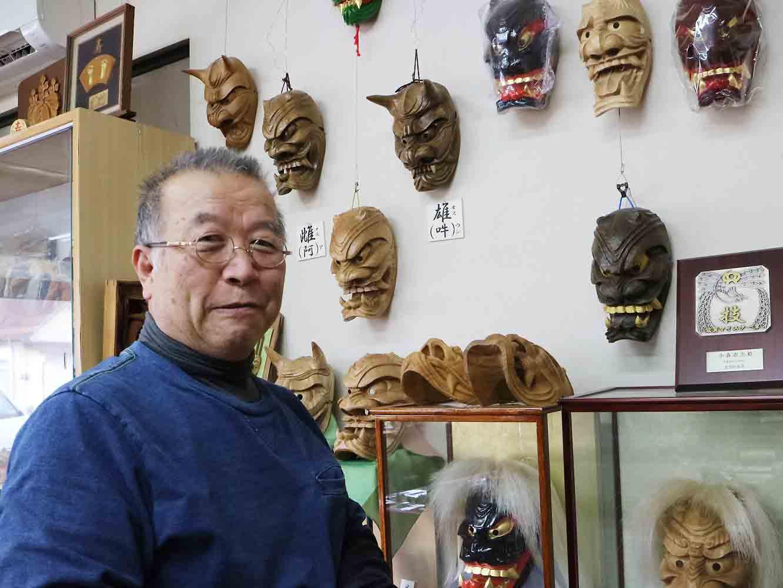 木彫師の小森惠雲さん