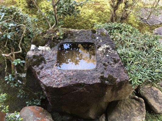 圓通寺の庭園風景