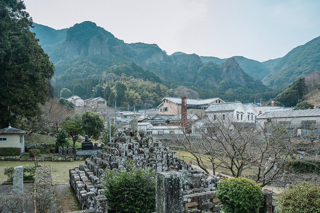 大川内山を臨む