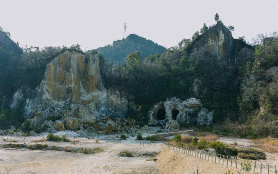 有田焼の元となる「陶石」が取れる泉山陶石場