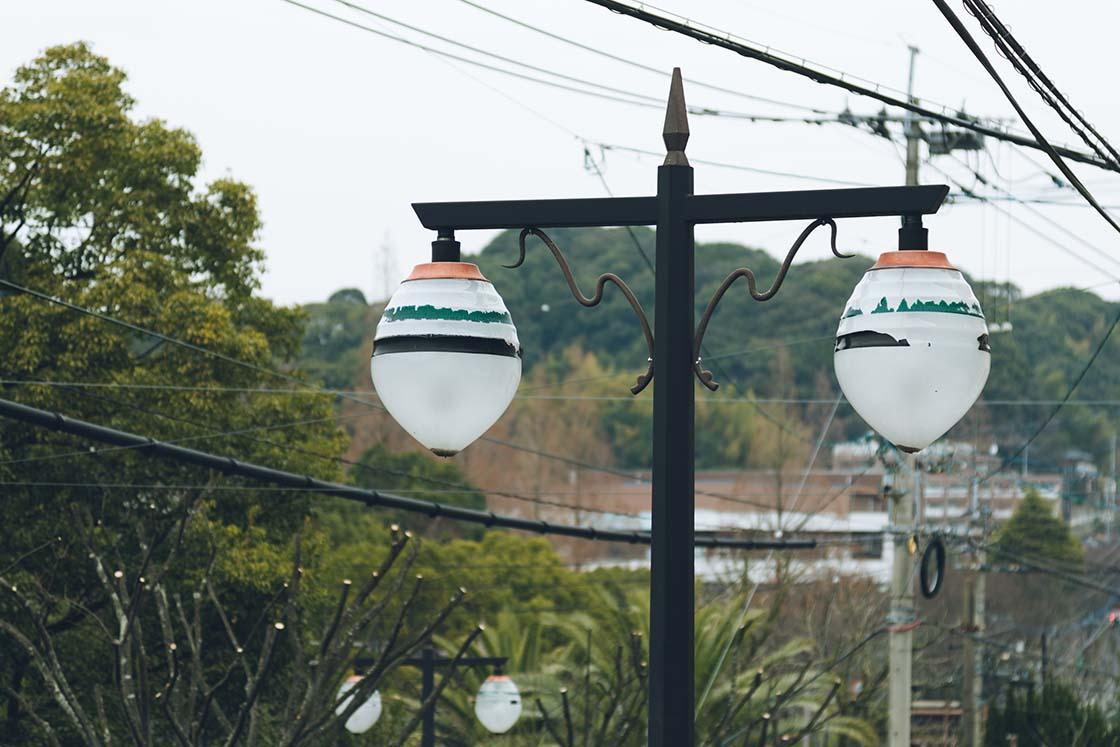 佐世保 独楽の形をした街灯