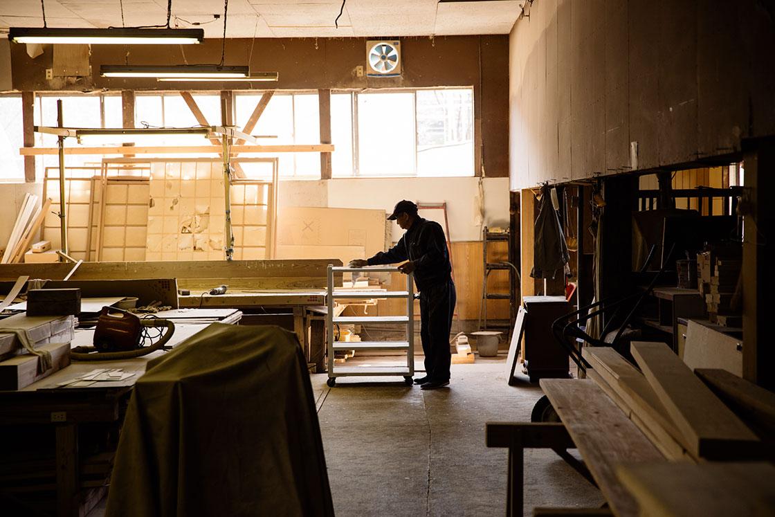 嬉野 和多屋別荘の大工室