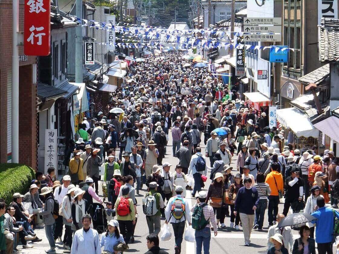 有田の陶器市のメインストリート