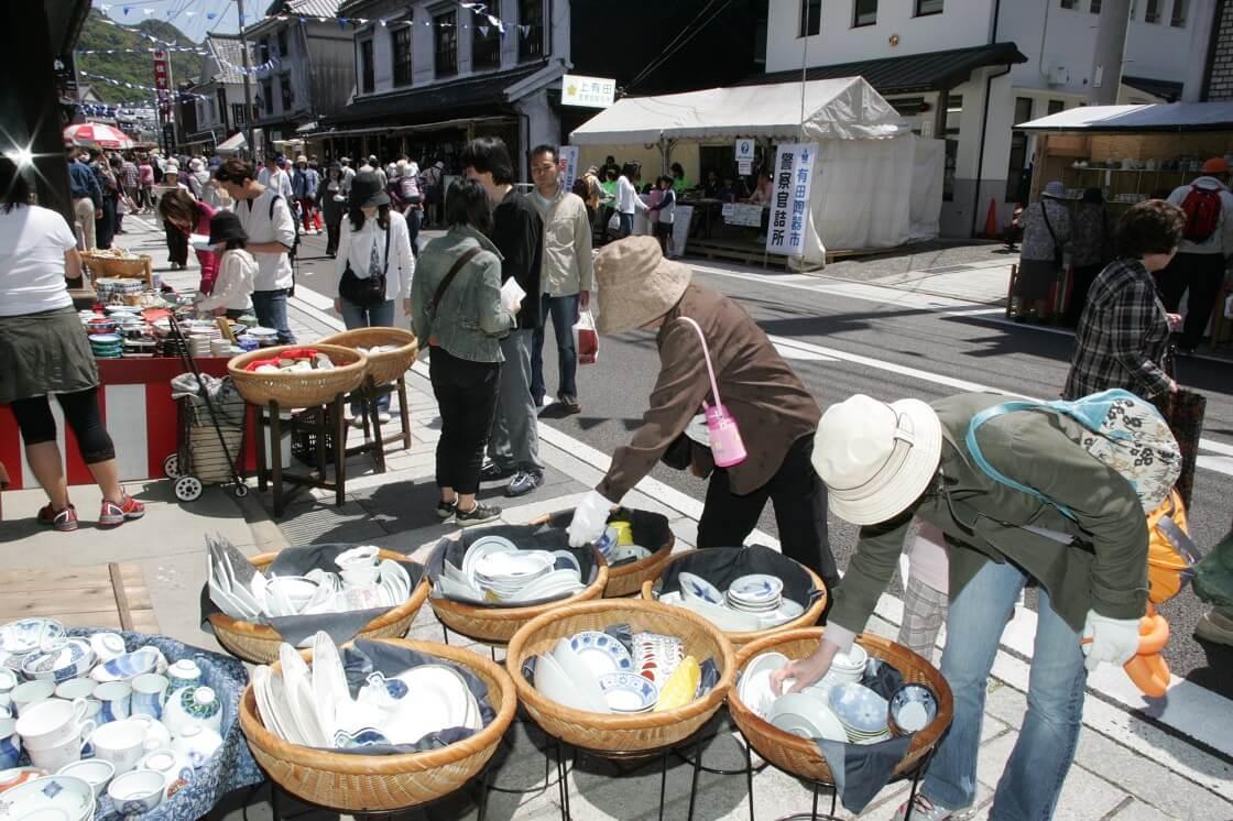 有田の陶器市の買い物