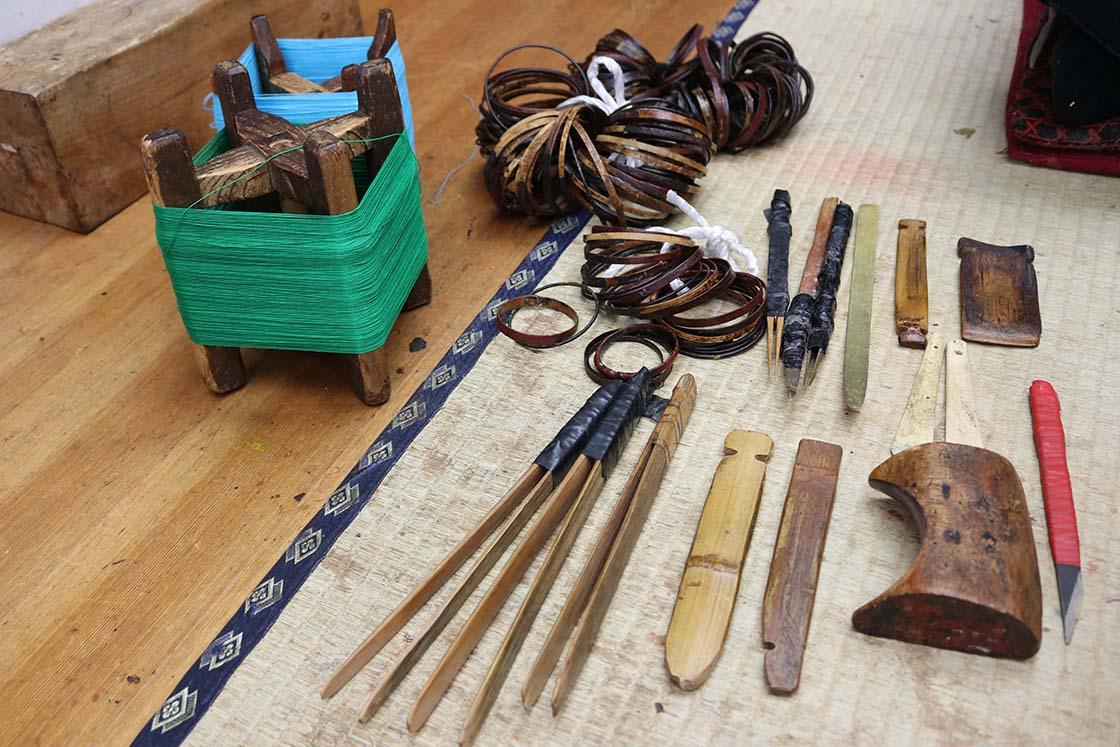 金沢和傘の道具