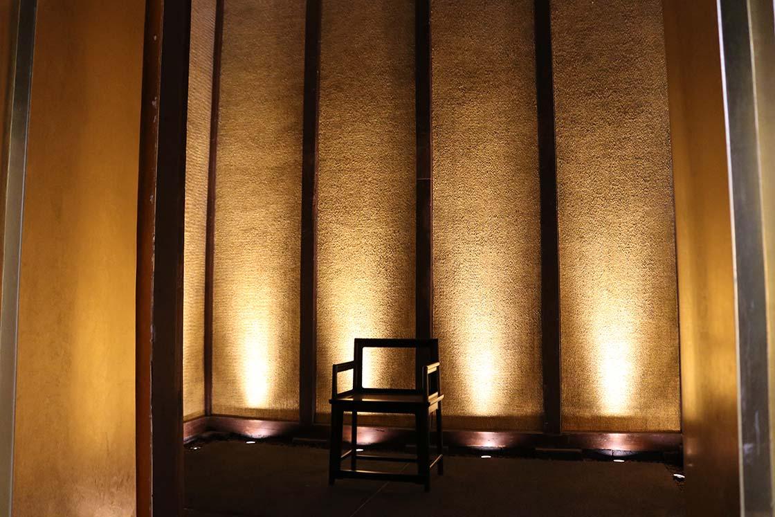 箔座ひかり蔵の「黄金の蔵」の内側