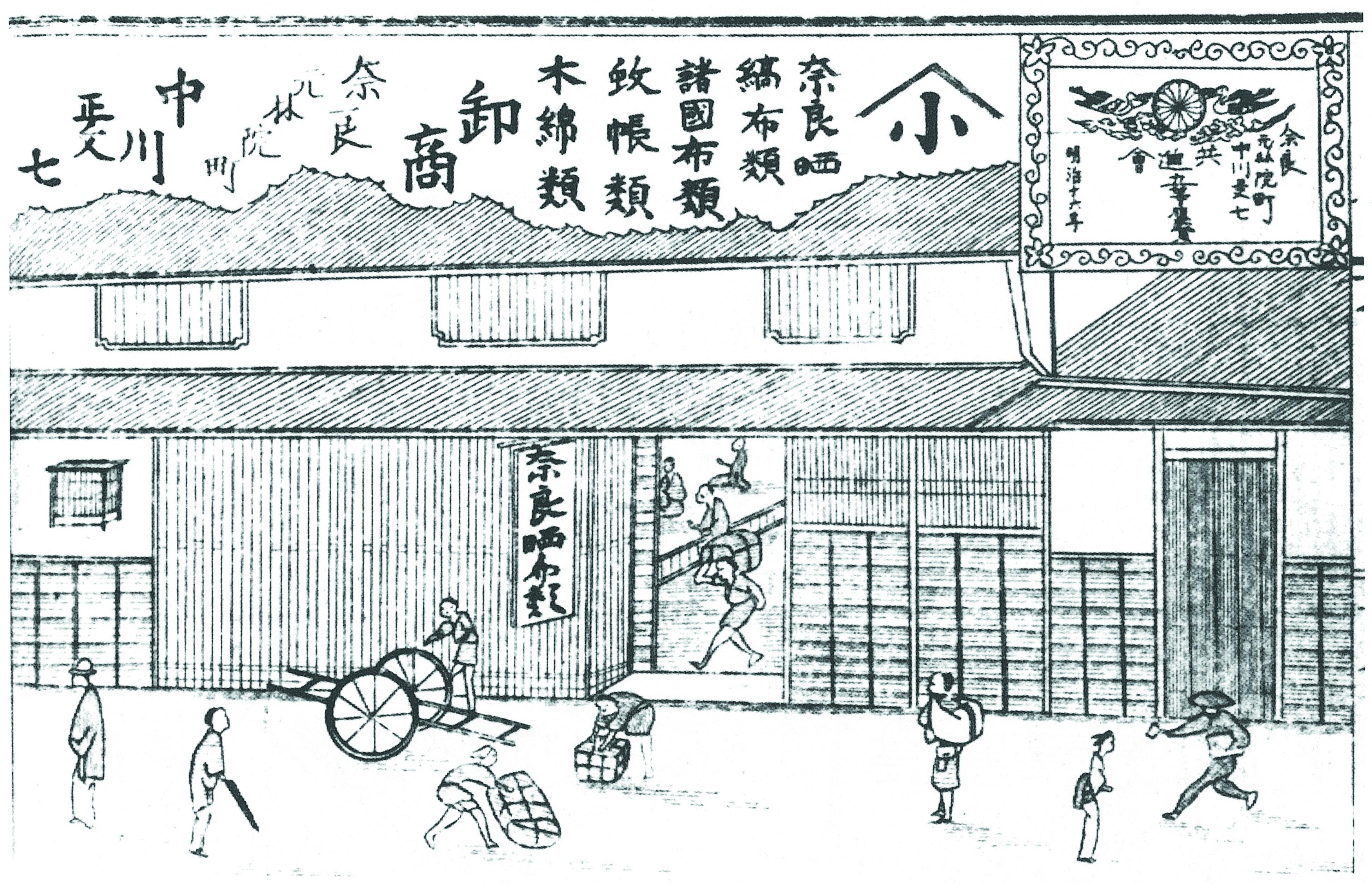 江戸時代の店先の様子