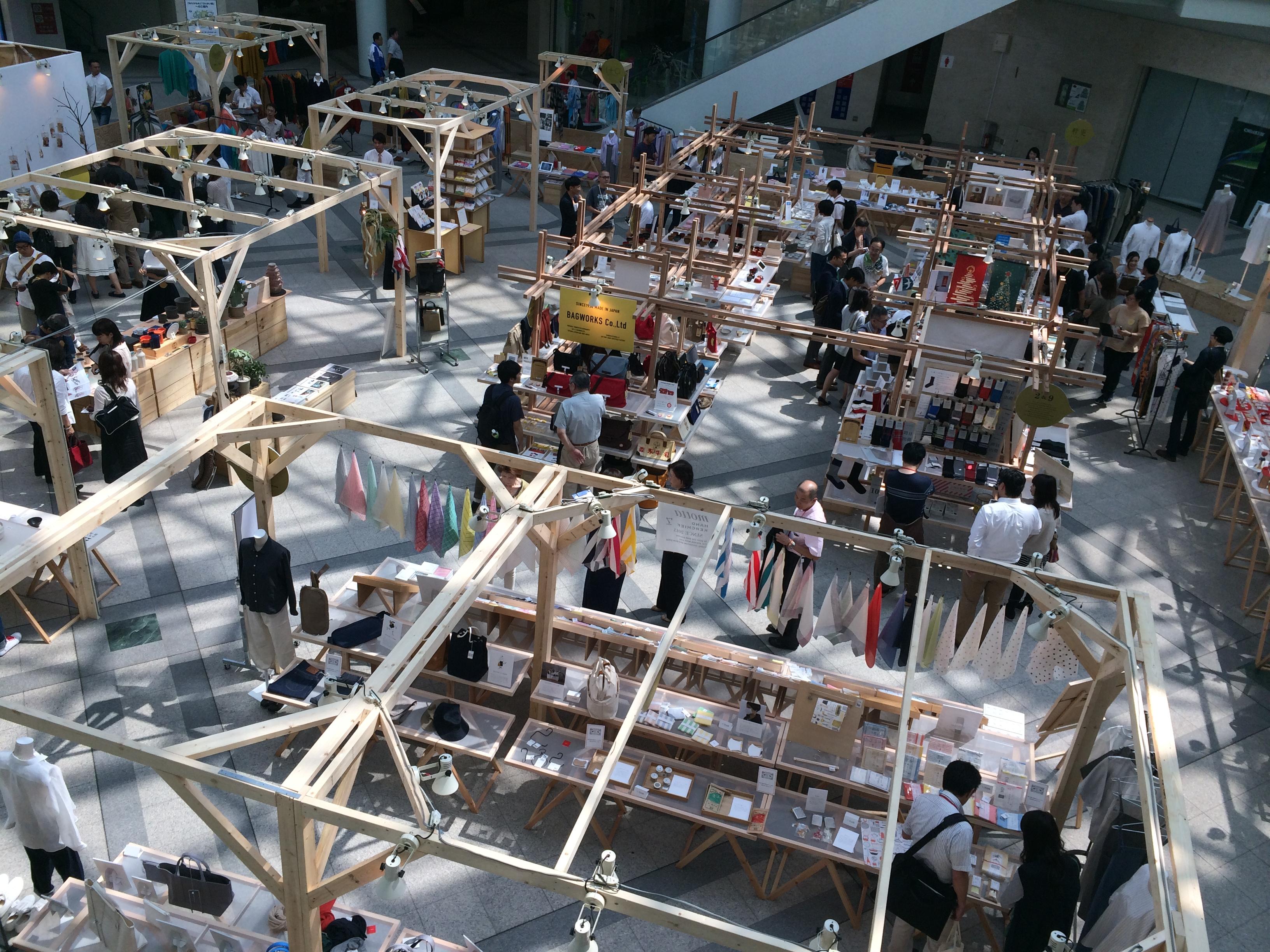 コンサルティング先など志を同じくする全国の工芸メーカーとともに開催した合同展示会「大日本市」