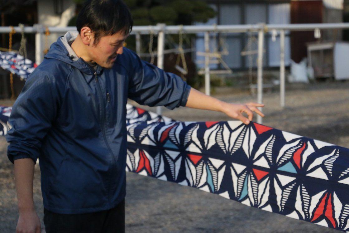 四代目の中川友輝さん。こことここが型を継いだところですよ、と教えてもらいますが、ほとんど見分けがつきません